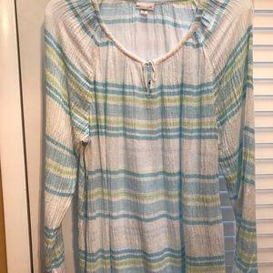 J Jill 2x Gauze boho tunic never worn !